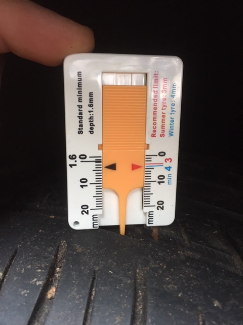 Tread Tyre Depth Gauge